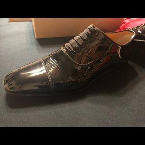 best service fa339 dad88 Louboutin Greggo Flat Patent Leather - Size 45